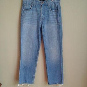 J brand high rise crop ivy jeans sz 25